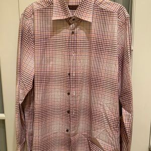 Men's Etro checkered button down